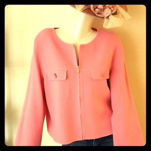 St John shell pink unconstructed jacket!